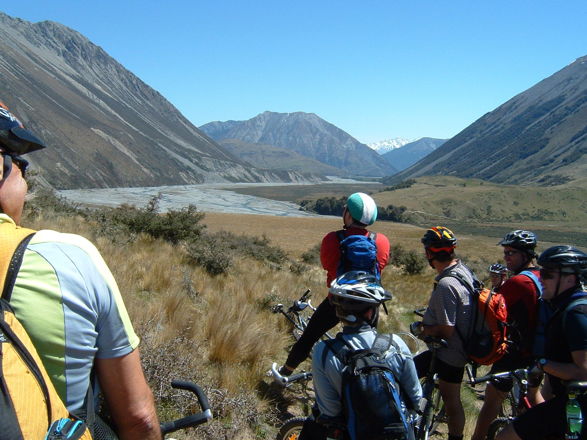 Taking a break - Mountain biking in New Zealand